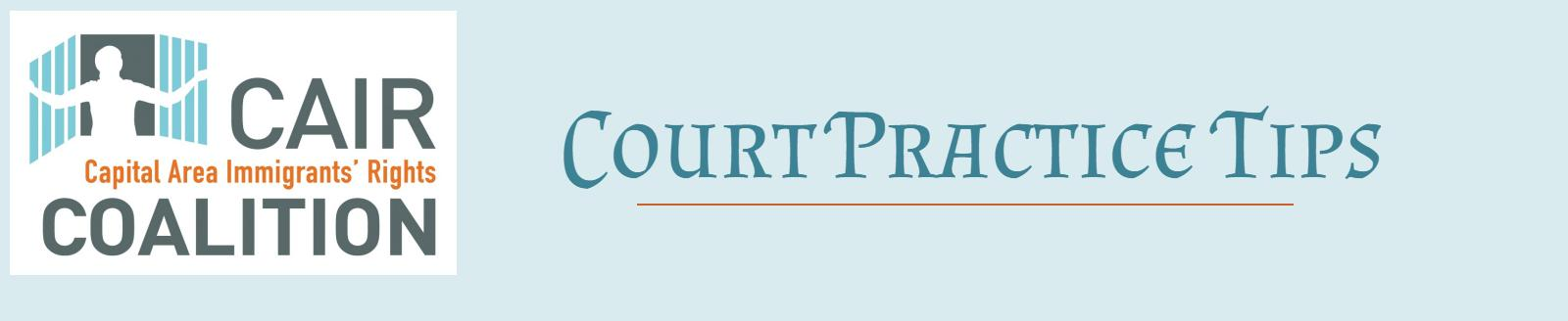 Court Practice Tips Series: Incorporating Motions to